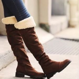 Jeffrey Campbell Shoes - Jeffrey Campbell over the knee Sherpa lined boots